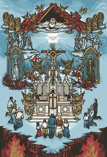 The Holy Mass 4x6 Print