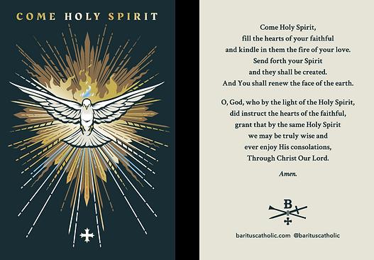Come Holy Spirit Prayer Card