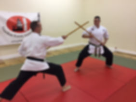 Kobudo Weapon training