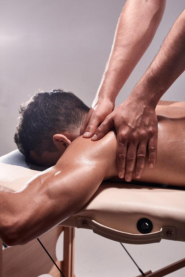 Man Receiving Sports Massage