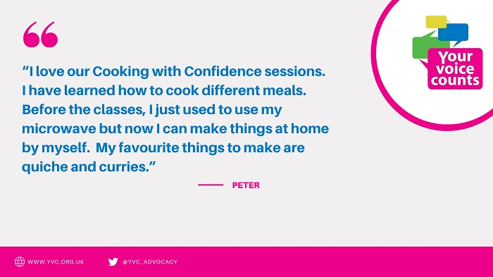 Quote from someone who has taken part in Cooking with Confidence