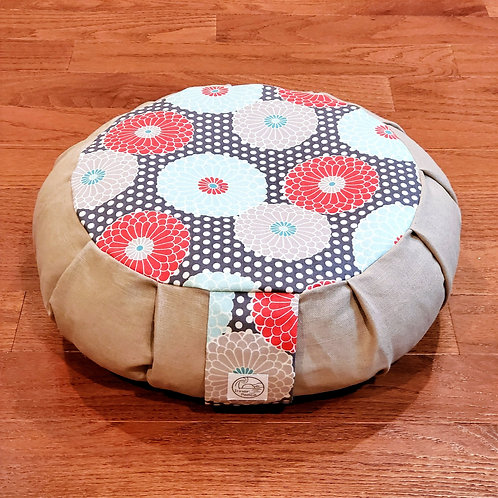Chrysanthemum Meditation Cushion with Removable Insert