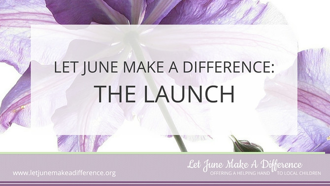 The Launch of Let June Make A Difference