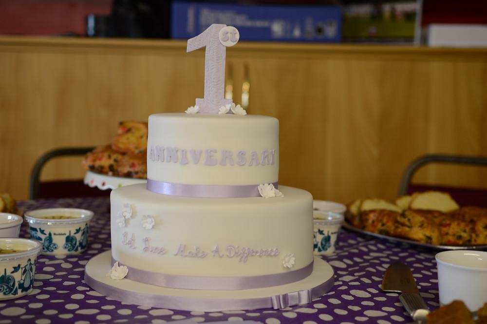 First anniversary cake