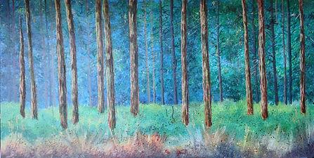 6 Conifer trunks painted.jpg