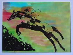 jumping_horse_screen_print_col