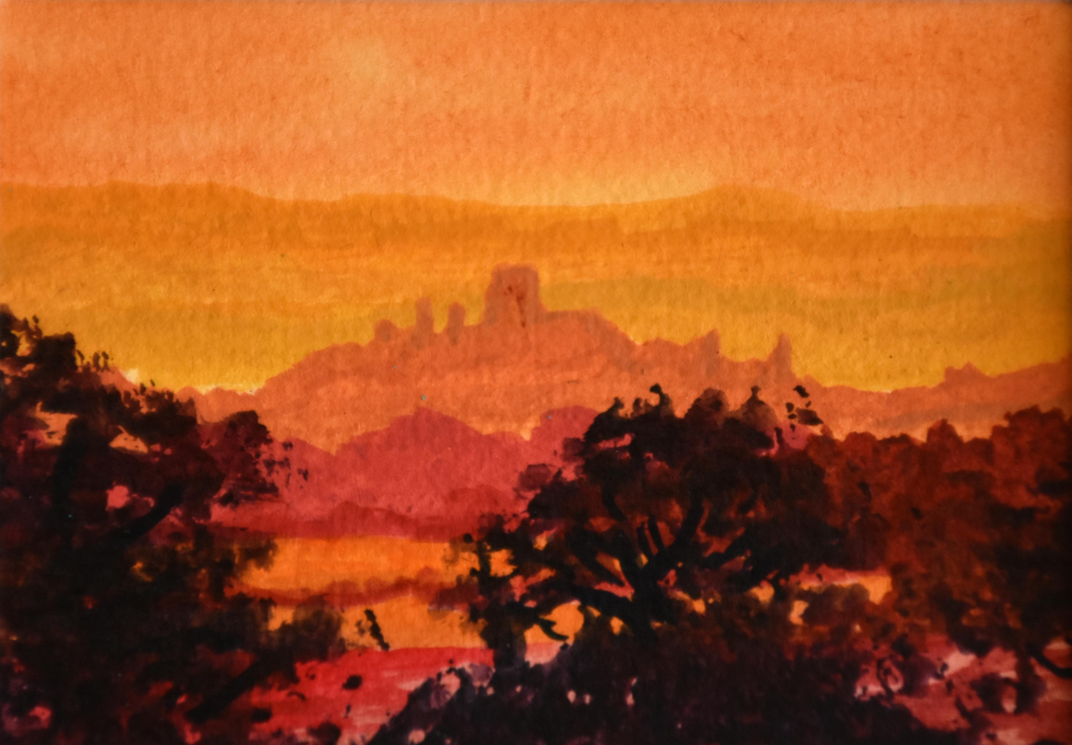 Corfe Castle from Kingston