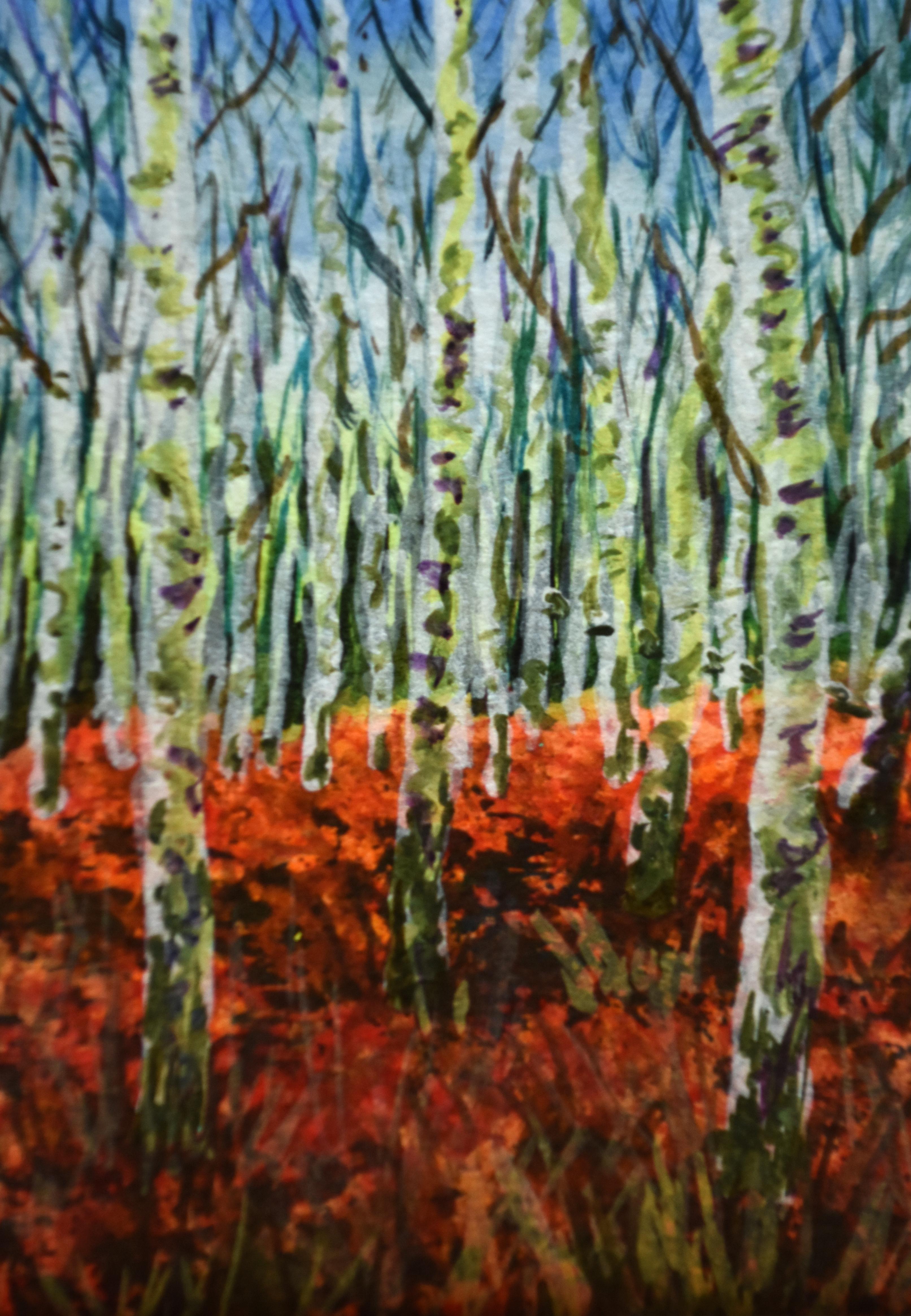 Birches and Ferns at Arne