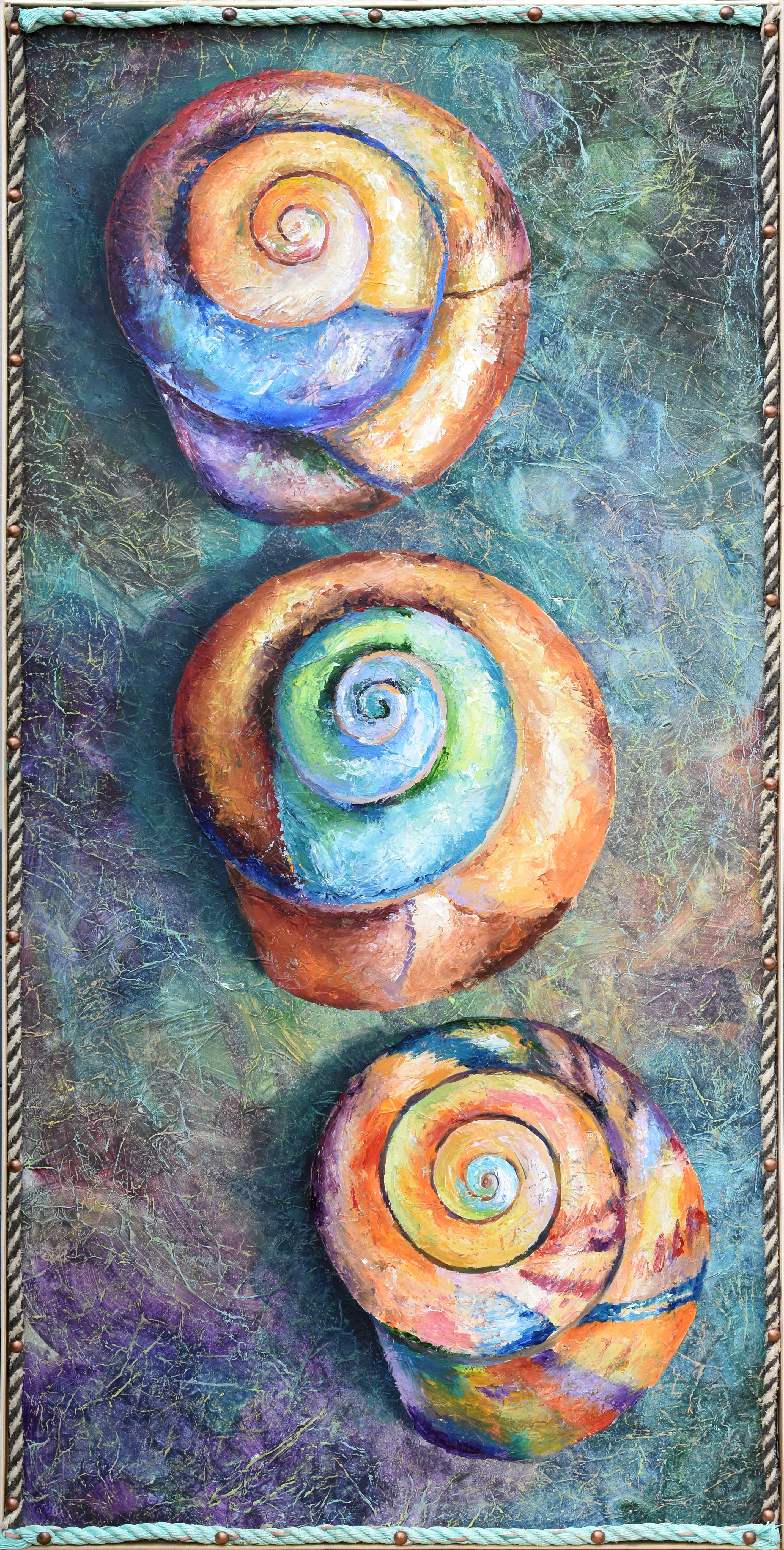 Three spiral shells