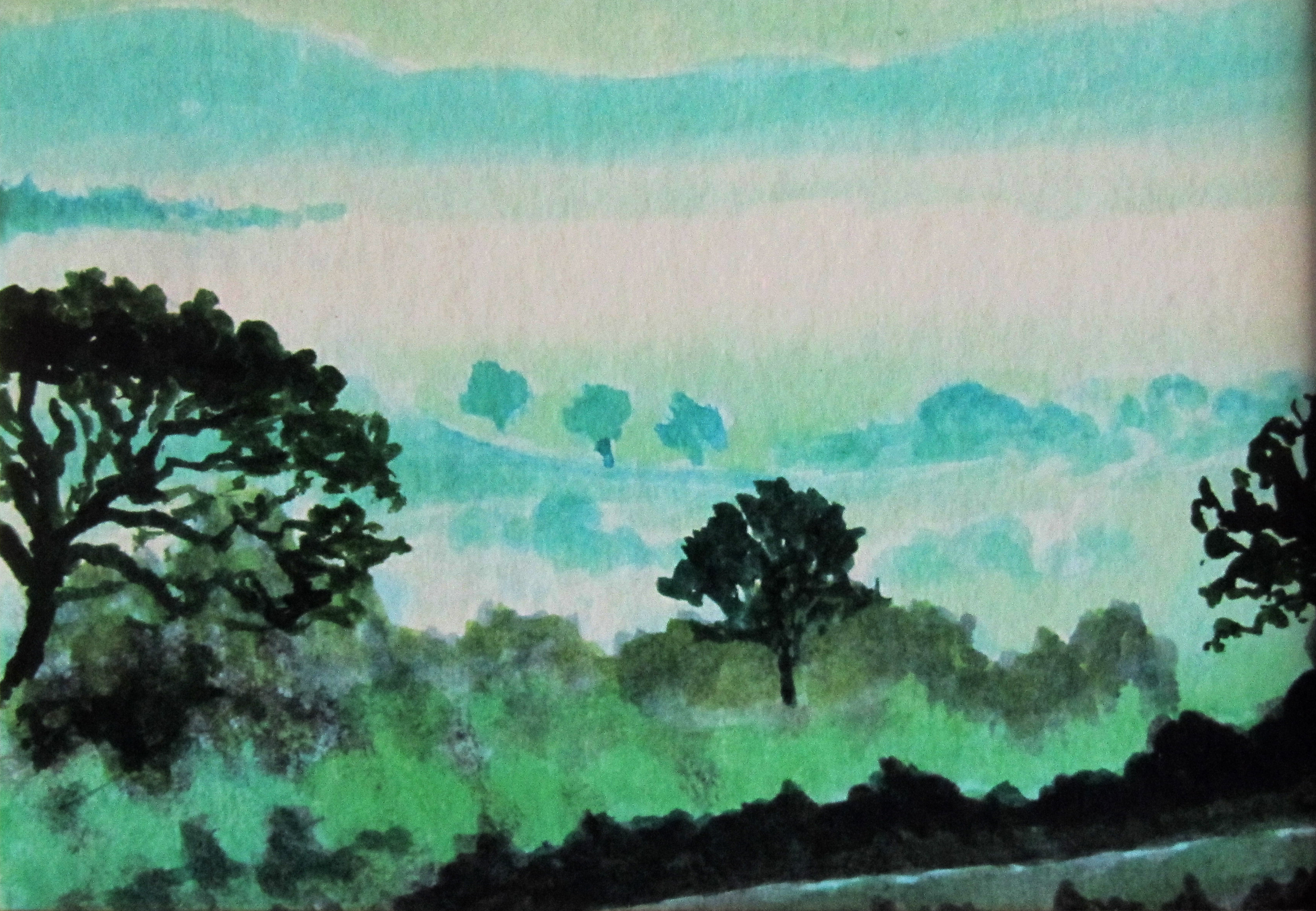 Misty morning, near Charmouth