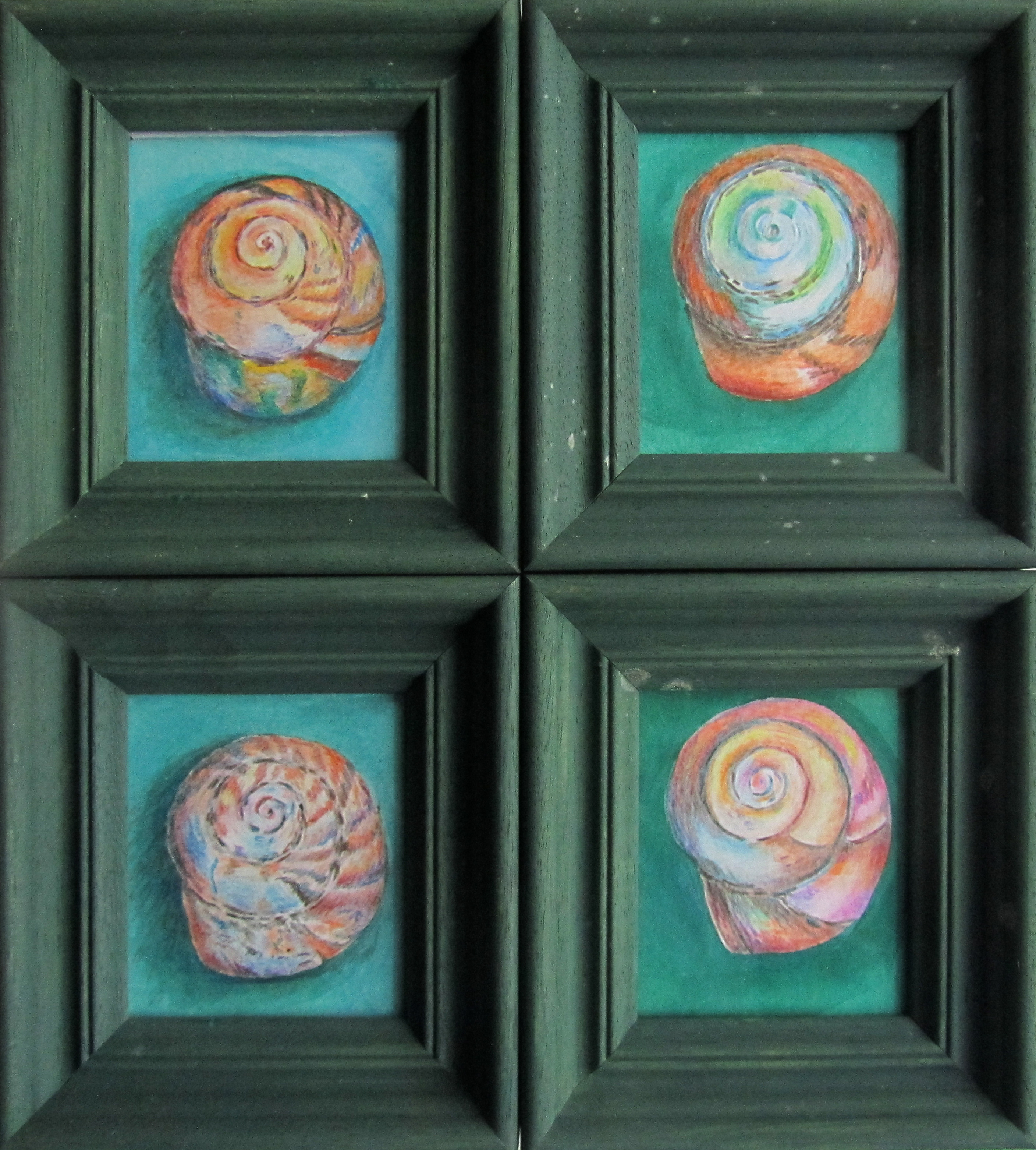 Four small shells
