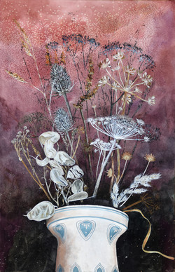 Still life seed heads, large