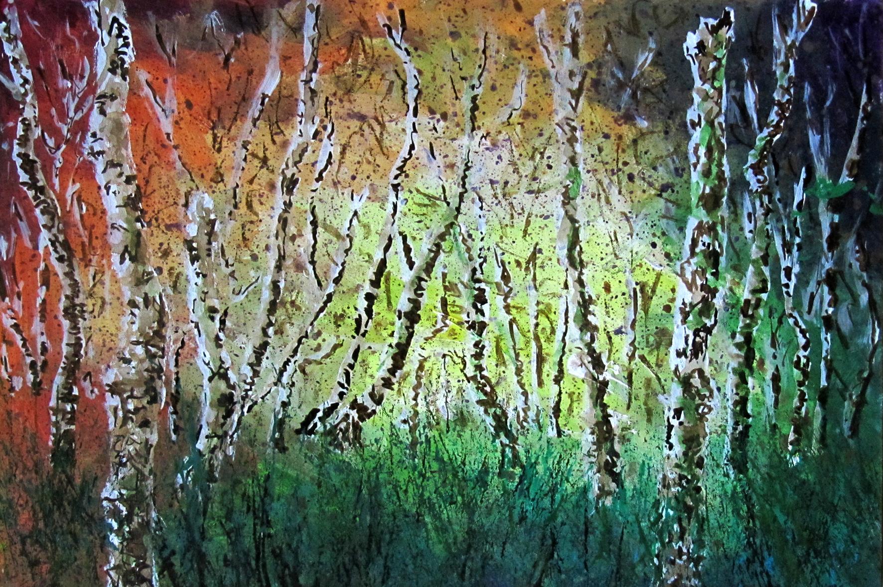 Arne, birch trees