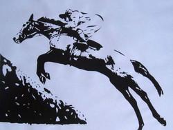 jumping_horse_screen_print_bw_1