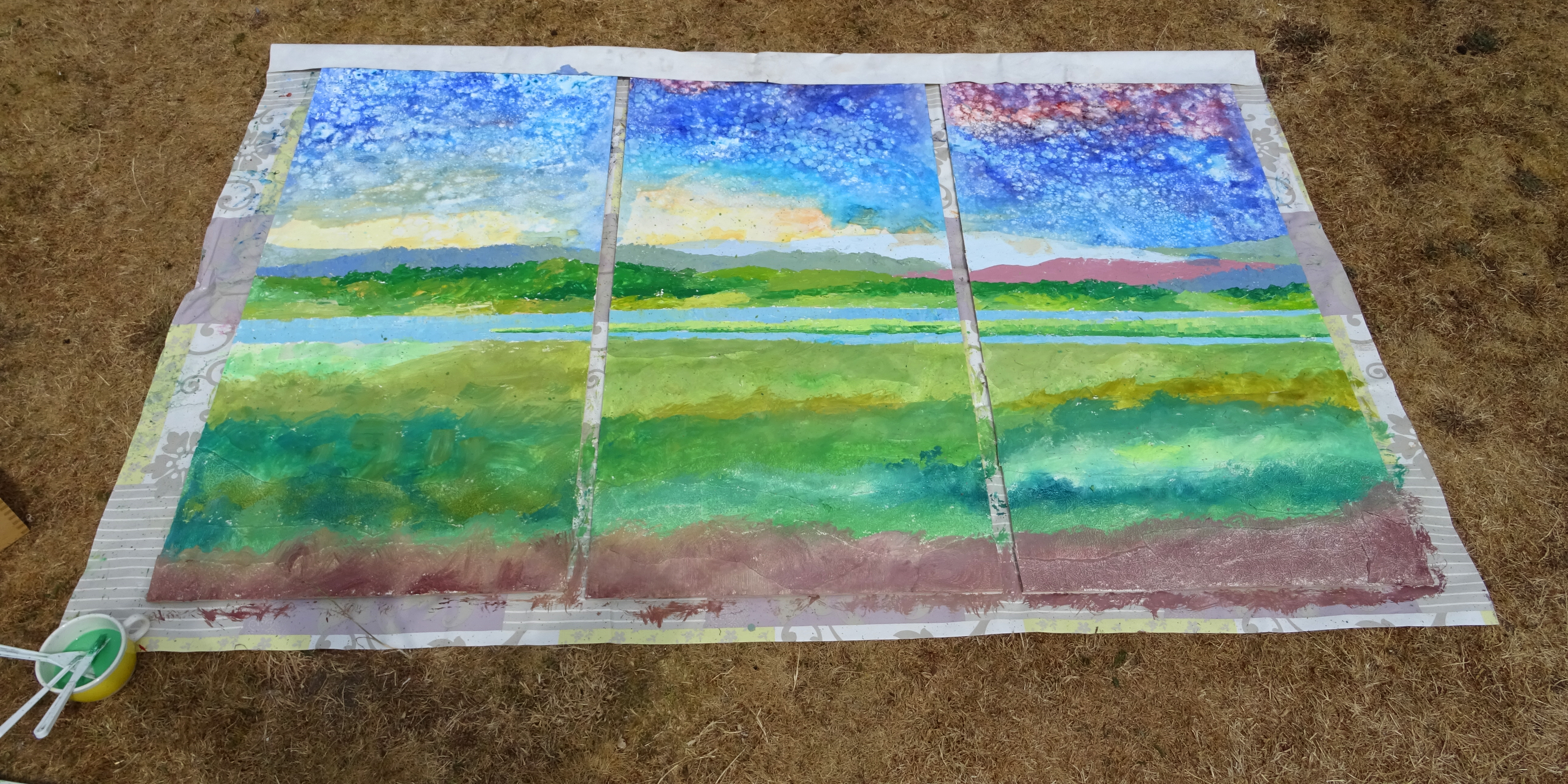 Arne triptych underpainting