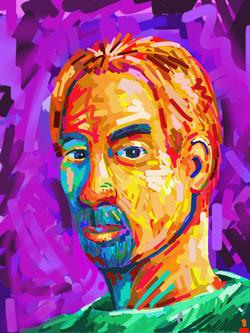 Fauvist self-portrait