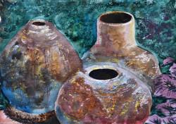 Still life garden pots