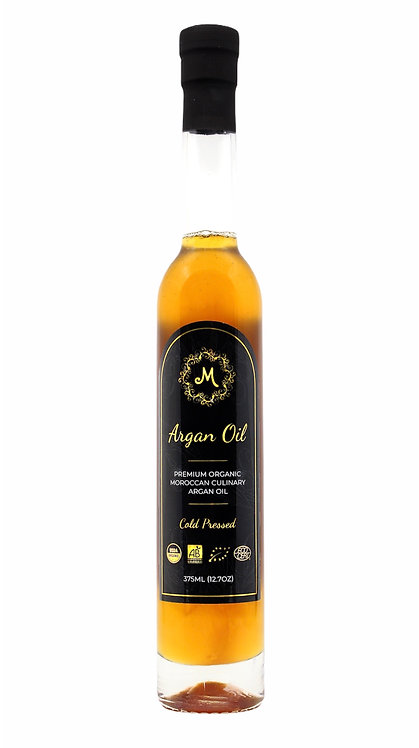 Premium Organic Moroccan Culinary Argan Oil - 375 ml