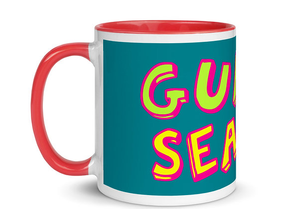 Sea Green/Red Guava Season Color Inside Mug