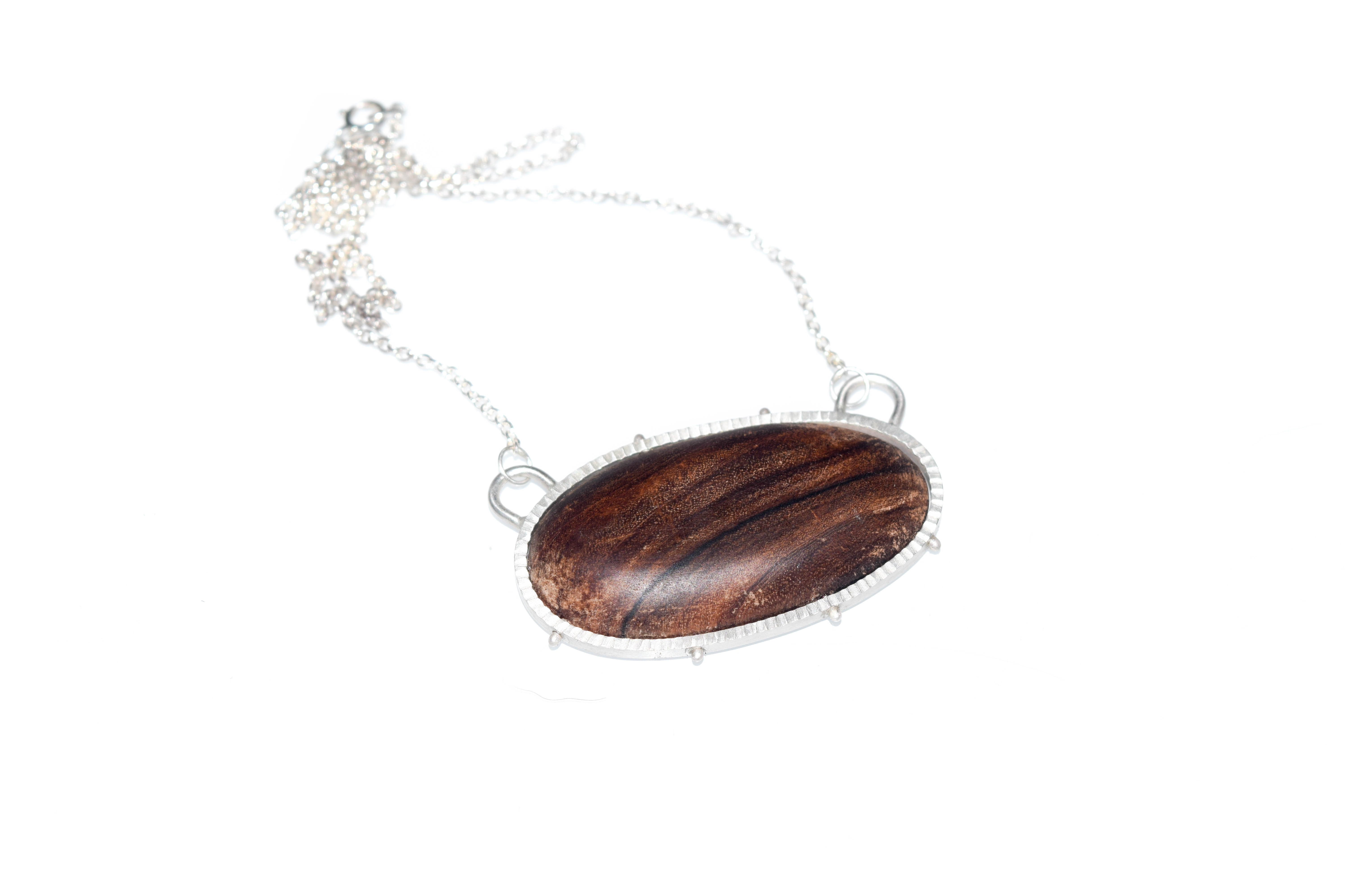 Pecan Wood Necklace (large)