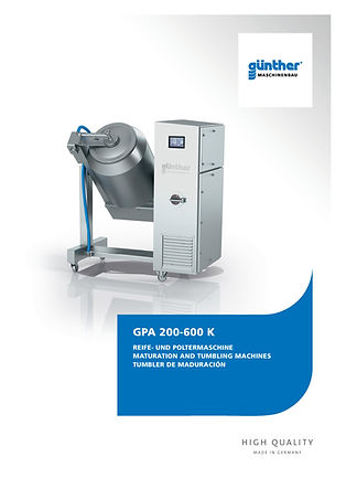 Guenther Maturation and tumbler E-Tek Processing and Packaging Innovations