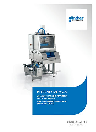 Guenther Pi 54 Servo injector E-Tek Processing and Packaging Innovations