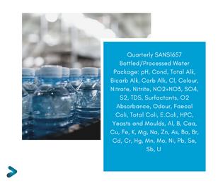 SANS1657 Quarterly Water Testing Package SPL