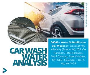 SPL Car Wash Water Analysis Package