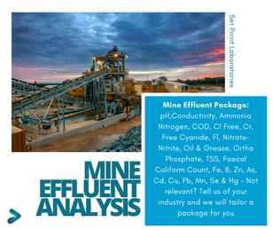 Mining Effluent Water Analysis Package SPL