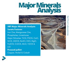 XRF Major Minerals Analysis SPL