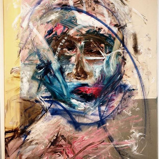 #10 Oil, acrylic on canvas