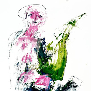 #1 oil and ink on paper | VERKAUFT