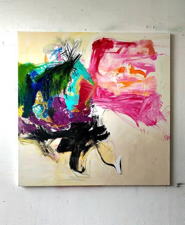 #3 Oil, acrylic on canvas