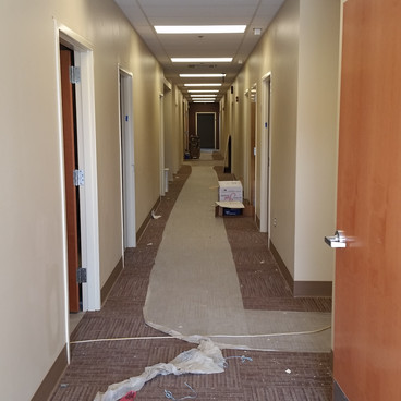 Medical Hallway Construction