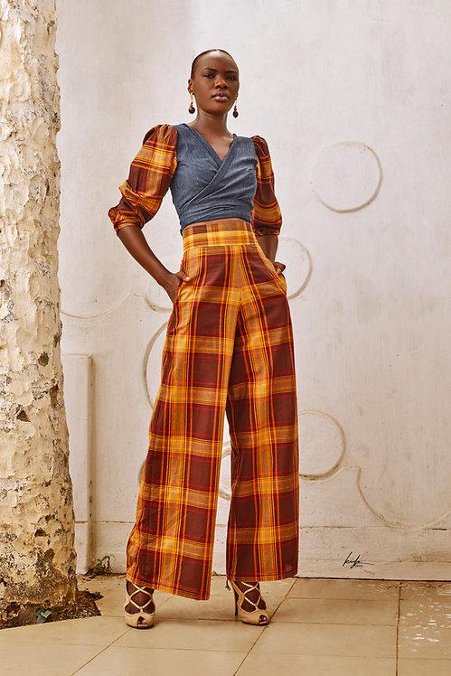 Ensemble pantalon madras