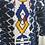 Thumbnail: Manteau indigo Glam Ethnik