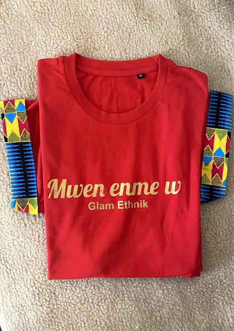"""Tee-shirt """"Mwen Enme w"""""""
