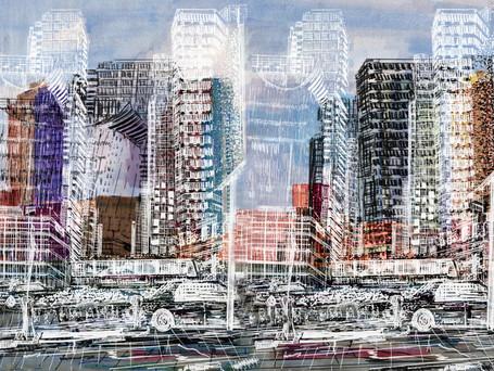 Layered Cityscape - Angela Yan