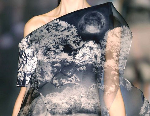 Digital fabric fashion print
