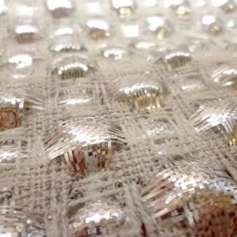 Gold effect knitwear design