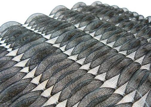 Dark lace knitwear fabric