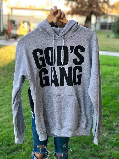 God's Gang Hoodie- Grey