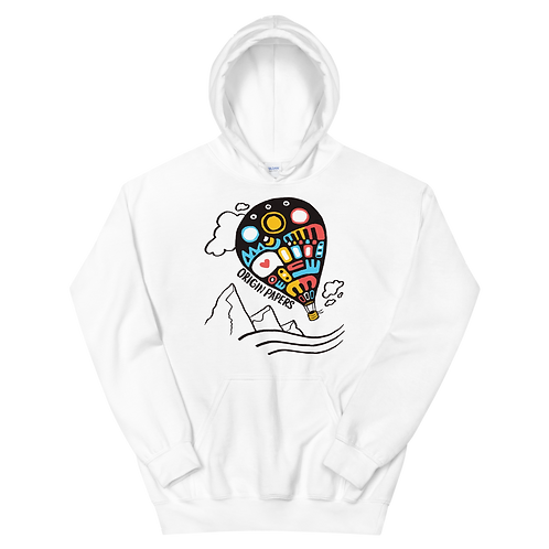 Origin Papers Landscape Hoodie White