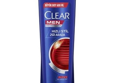 CLEAR MEN 2'Sİ 1 ARADA 600 ML ŞAMPUAN