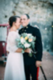 wedding rise on groom and bride in sicily italy