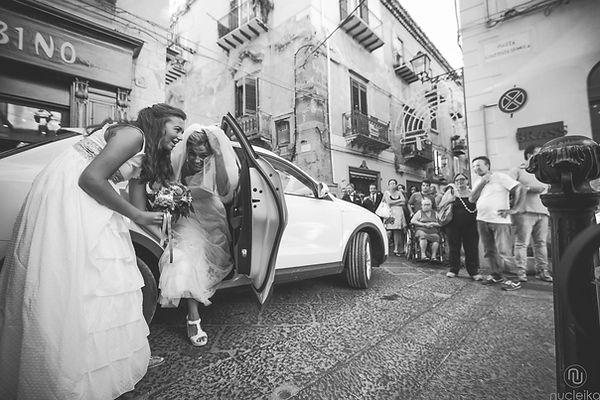 arrivo della sposa abito