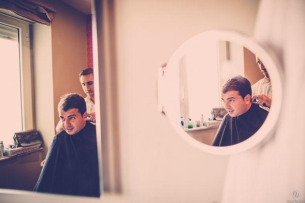 lo sposo dal barbiere