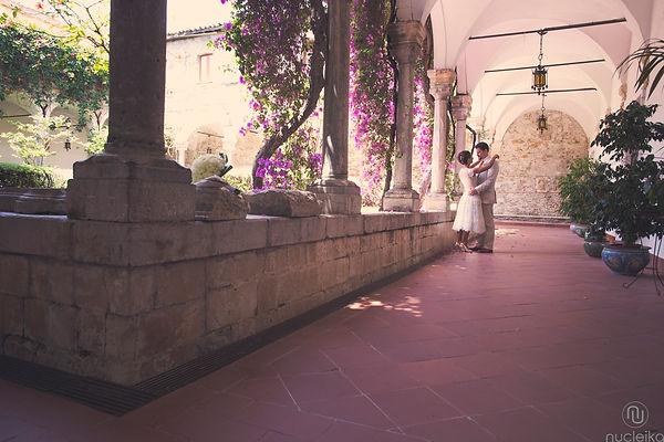 il chiostro interno dell'hotel San Domenico a Taormina suggestivo per wedding ed eventi in Sicilia