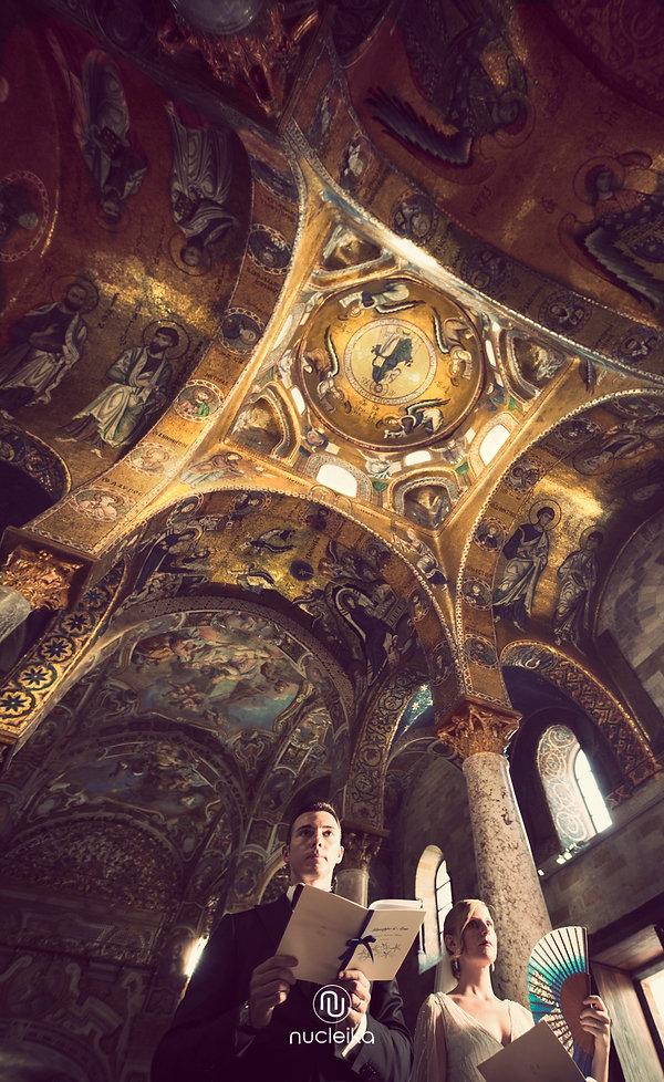 wedding kiss church palermo sicily nucleika marturana