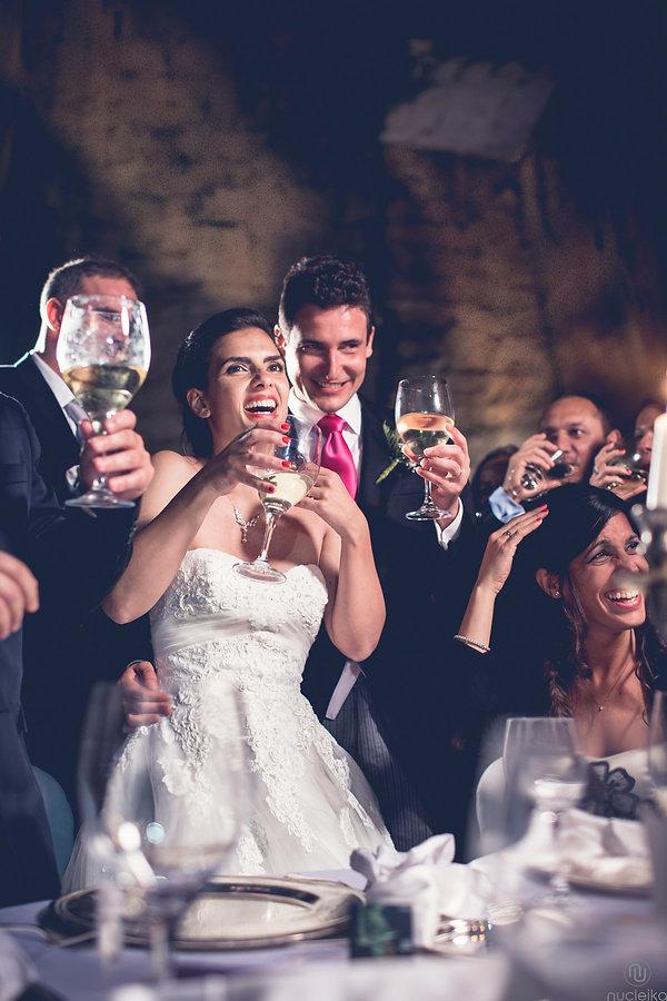 il sorriso del brindisi del matrimonio
